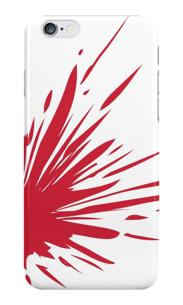 iPhone cover with blood spatter