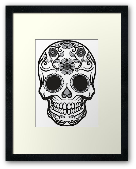 Candy Skull in frame