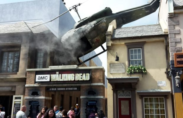 the walking dead universal studios helicopter