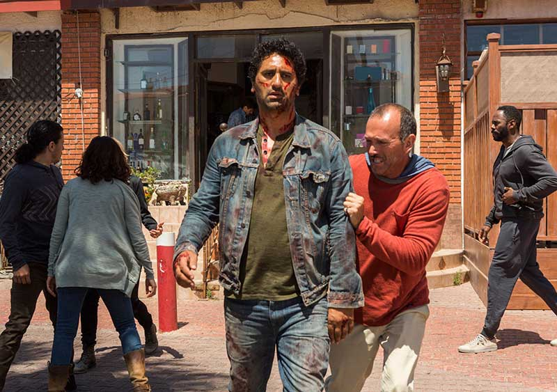 FTWD season finale - 215 recap - Cliff Curtis as Travis Manawa