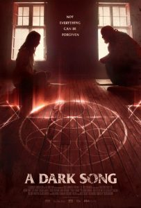 A Dark Song poster - review of occult horror drama