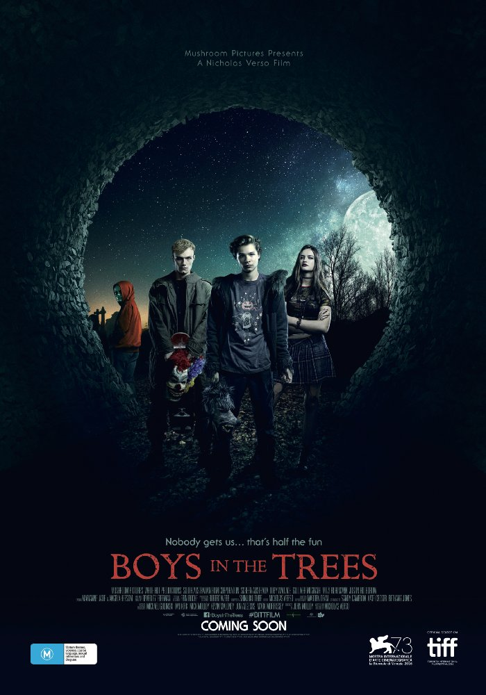 Boys in the Trees poster and review - halloween movie on netflix