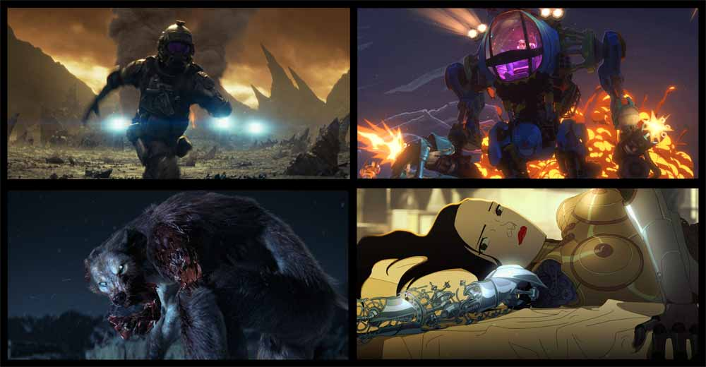 4 of the shorts in Netflix anthology series Love, Death & Robots