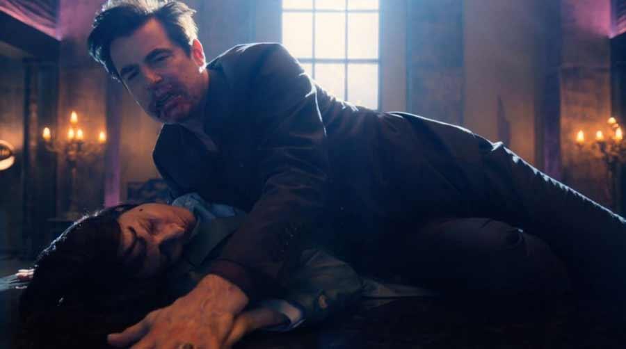 Dracula drinking Zoe's blood in Netflix Series