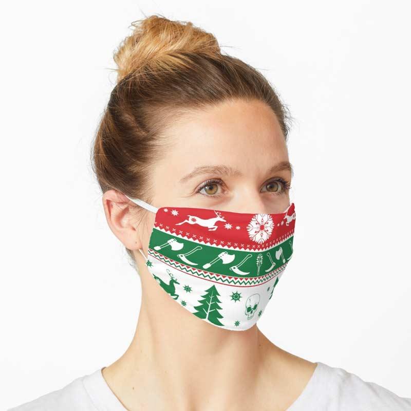 Horror Christmas Face Mask