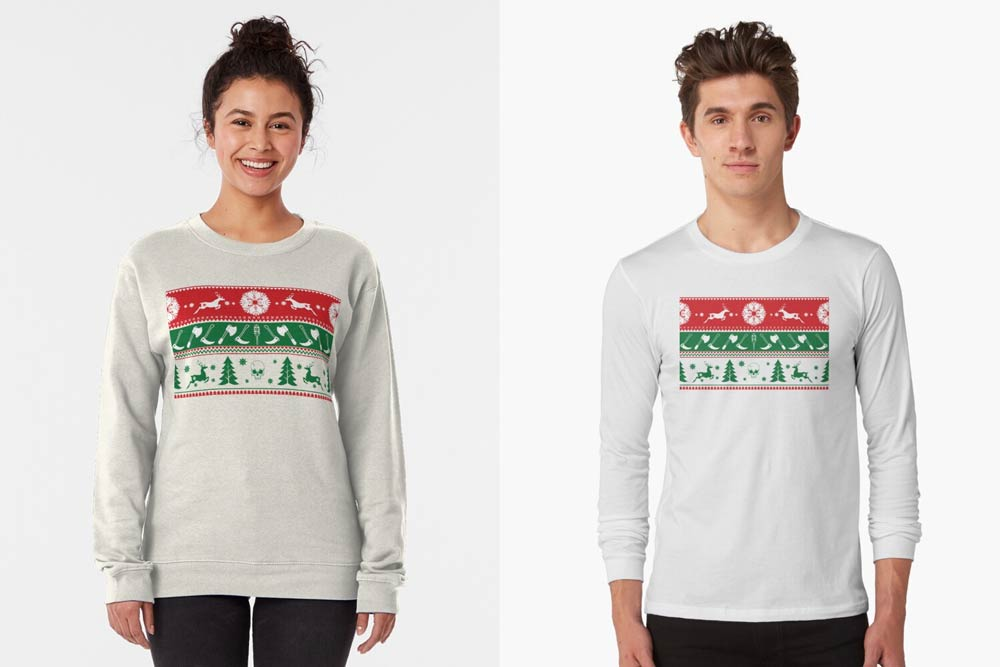 ugly horror Christmas sweater